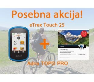 eTrex Touch 25 + Adria TOPO Pro