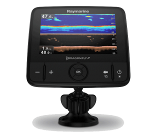 "Dragonfly 7PRO 7"" CHIRP DownVision in CHIRP sonar s sondo CPT-DVS, Wi-Fi in GPS"