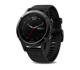 Garmin f?nix 5 - 47 mm - Black Sapphire with Black Band