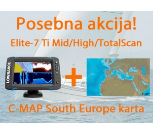 Elite-7 Ti Mid/High/TotalScan + C-MAP South Europe