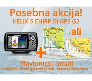 HELIX 5 CHIRP DI GPS G2 + Navionics+ Small