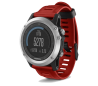 fenix 3 - srebrna ura z rdečim paščkom
