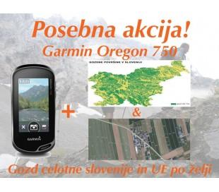 Oregon 750 + gozd celotne slovenije + UE po želji