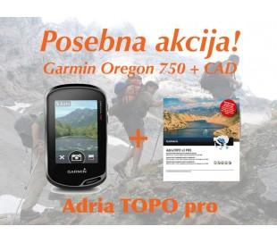 Garmin Oregon 750 + Adria TOPO Pro in Evropa