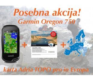 Garmin Oregon 750 + Adria TOPO pro karta