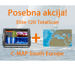 Elite-12Ti s TotalScan Transducer + CMAP South Europe