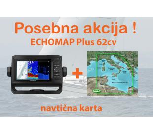 ECHOMAP Plus 62cv + BlueChart G2 Vision Srednji Mediteran