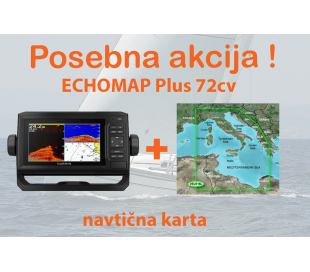 ECHOMAP Plus 72cv + BlueChart G2 Vision Srednji Mediteran