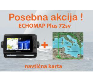 ECHOMAP Plus 72sv + BlueChart G2 Vision Srednji Mediteran