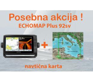 ECHOMAP Plus 92sv + BlueChart G2 Vision Srednji Mediteran
