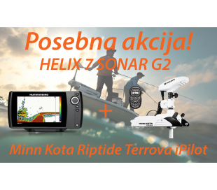 HELIX 7 SONAR G2 + Motor Minn Kota Riptide Terrova iPilot