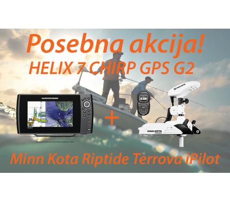 HELIX 7 CHIRP GPS G2 + Motor Minn Kota Riptide Terrova iPilot