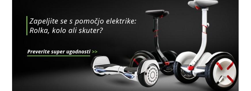 Električna kolesa skuterji in rolke
